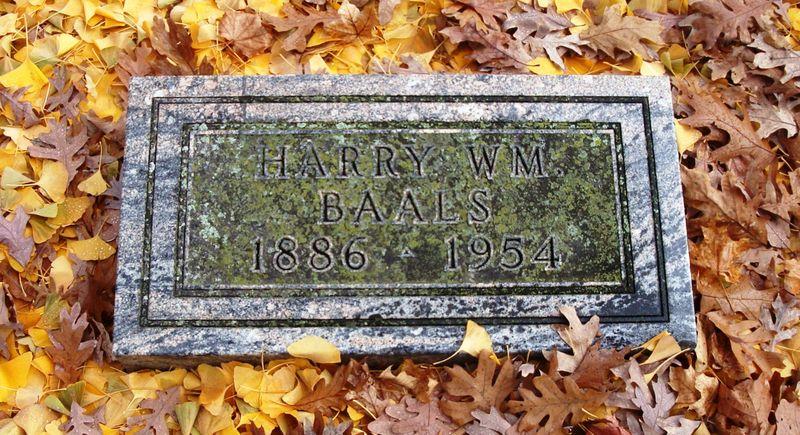 Baals Grave stone autumn