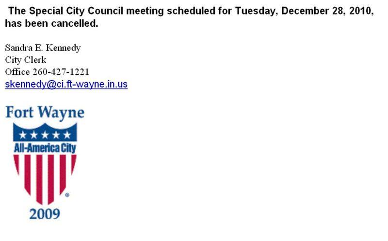 Council cancelled