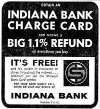 Credit card Indiana Bank ad 69001