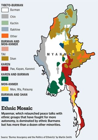 Burma Ethnic Map