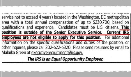 IRS ad excerpt