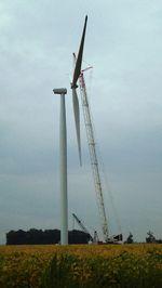 Wind turbine north of Elwood Sept 17 2012