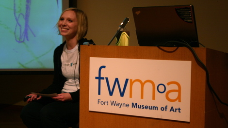 Kat Rohrbacher at the FWMoA
