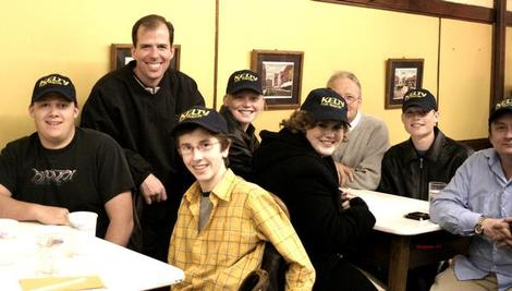 Photo of Matt Kelty and a group from the F.W. Young Republicans