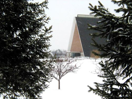 Kramer Chapel from across the lake
