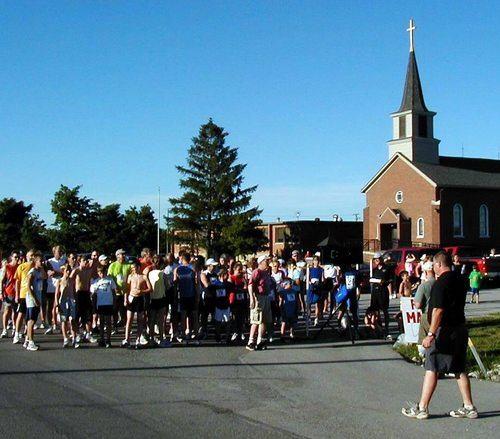 Start at St. Aloysius Church, Yoder IN