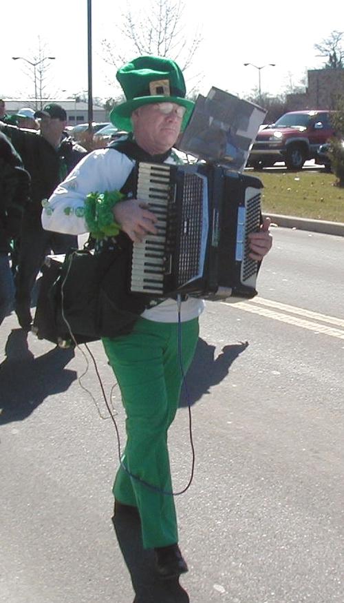 Irish tunes played on the accordion