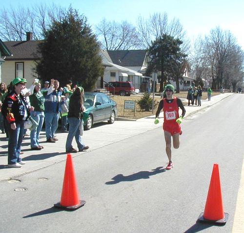 Casey Shafer at the Shamrock Sprint finish