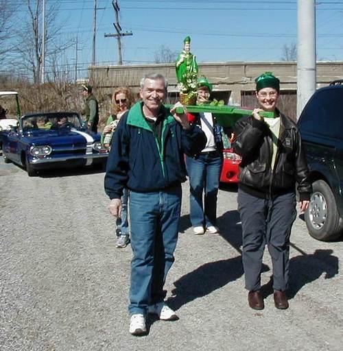 Tom Henry, St. Patrick and Karen Goldner