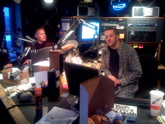 At the Majic 95 studios